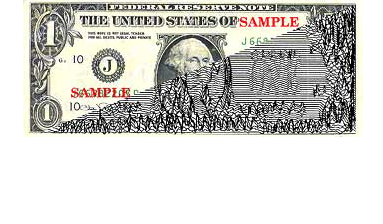 Currency magnetic pattern